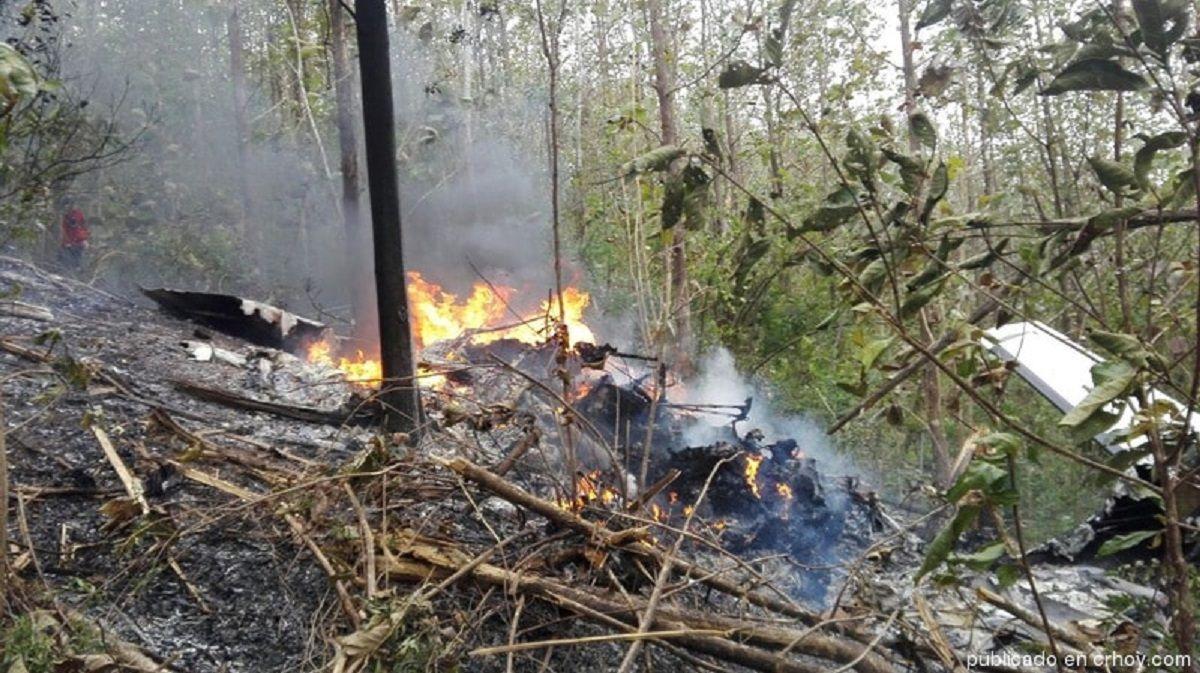 Se estrelló una avioneta en Costa Rica: 10 de los muertos son extranjeros