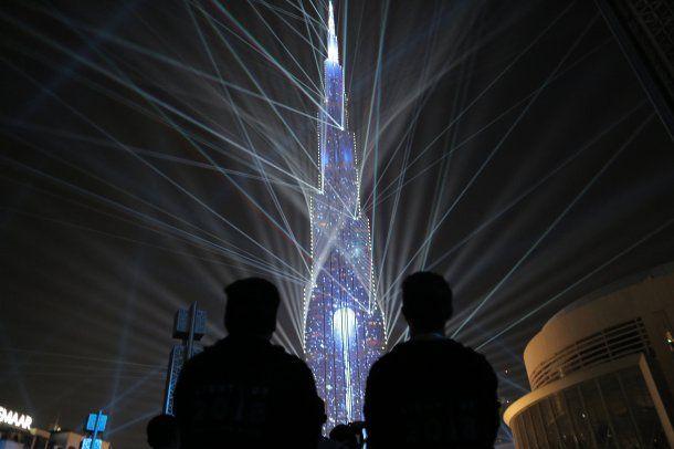 Festejo de Año Nuevo en Dubai.