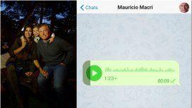 Los saludos de Macri: una foto famliar y un audio de WhatsApp