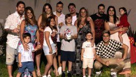 Lionel Messi y Antonela Roccuzzo con toda la familia