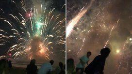 Australia: un show de fuegos artificiales fuera de control dejó dos heridos