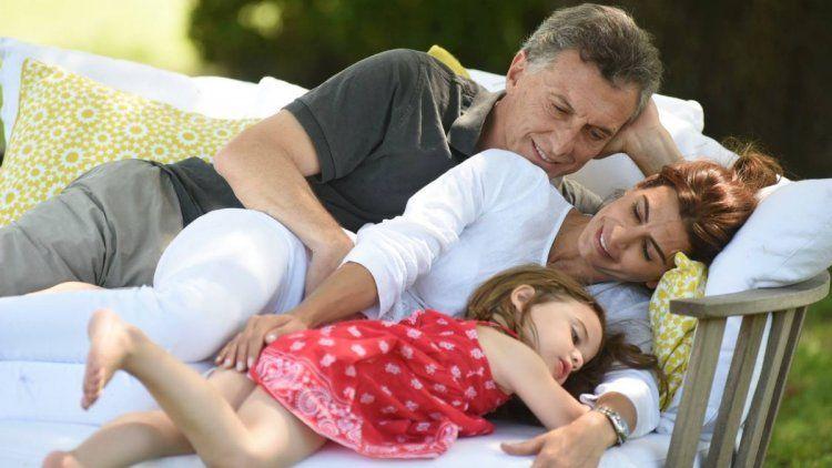 Mauricio Macri con Juliana Awada y su hija Antonia