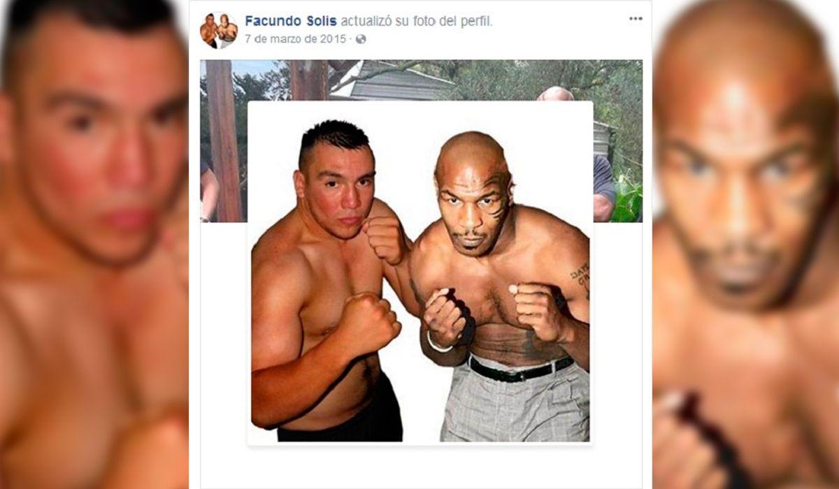 Facundo Solís y Mike Tyson en la foto de perfil de Facebook del femicida
