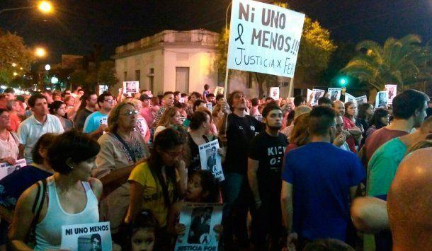 Marcha contra Nahir Galarza