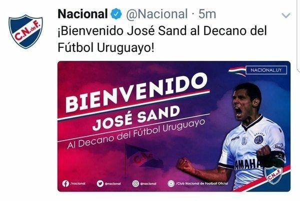 Se va el gran goleador: Deportivo Cali anunció la llegada de José Sand