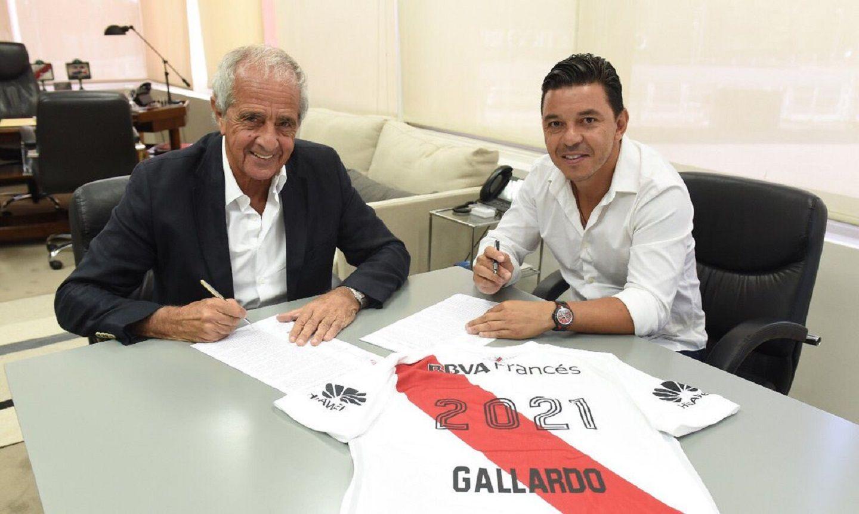 Marcelo Gallardo renovó su vínculo como DT de River hasta 2021.