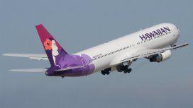 El vuelo partió de Honolulu, Hawaii, hacia el pasado en Auckland, Nueva Zelanda