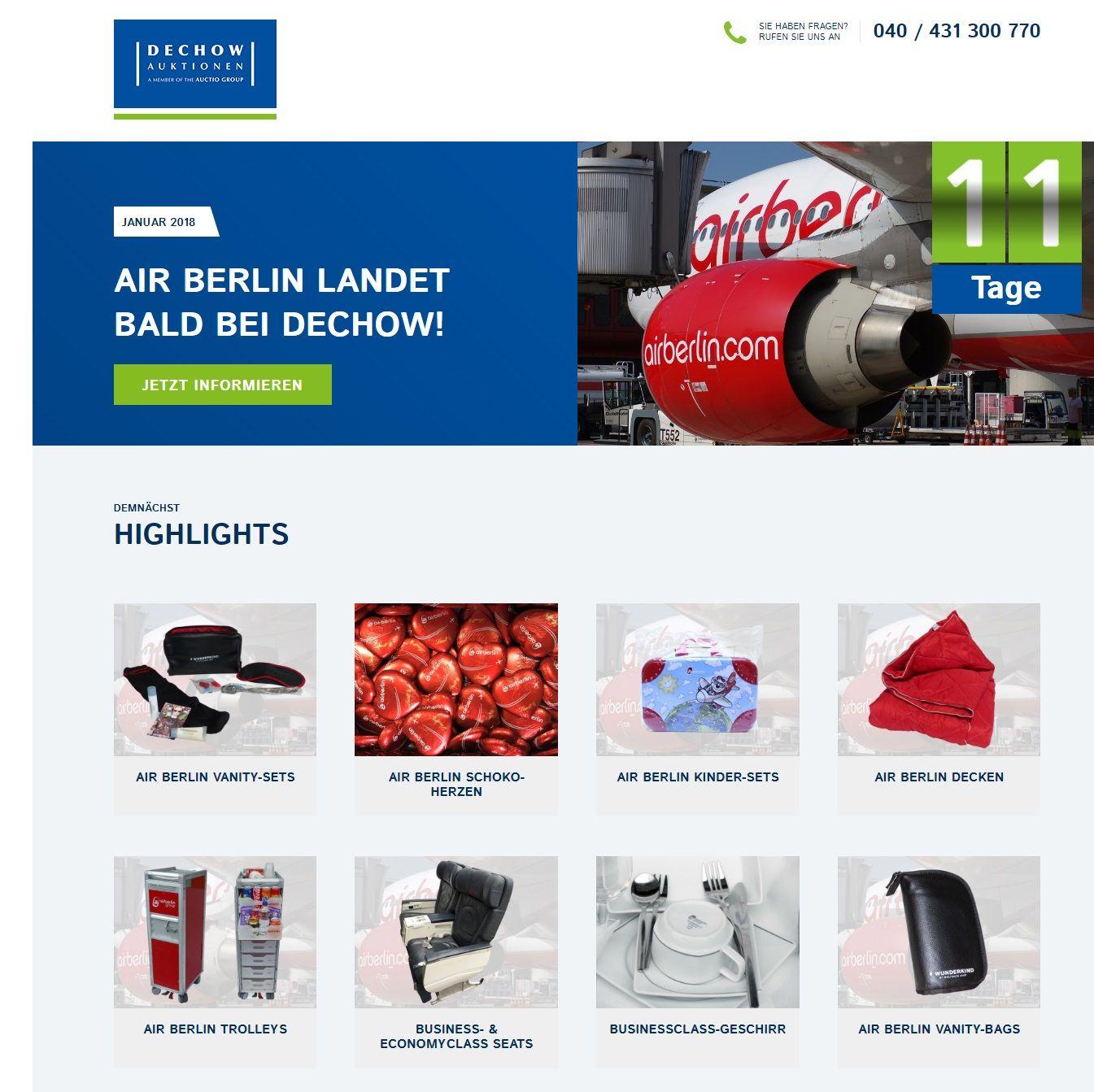 El inventario de Air Berlin