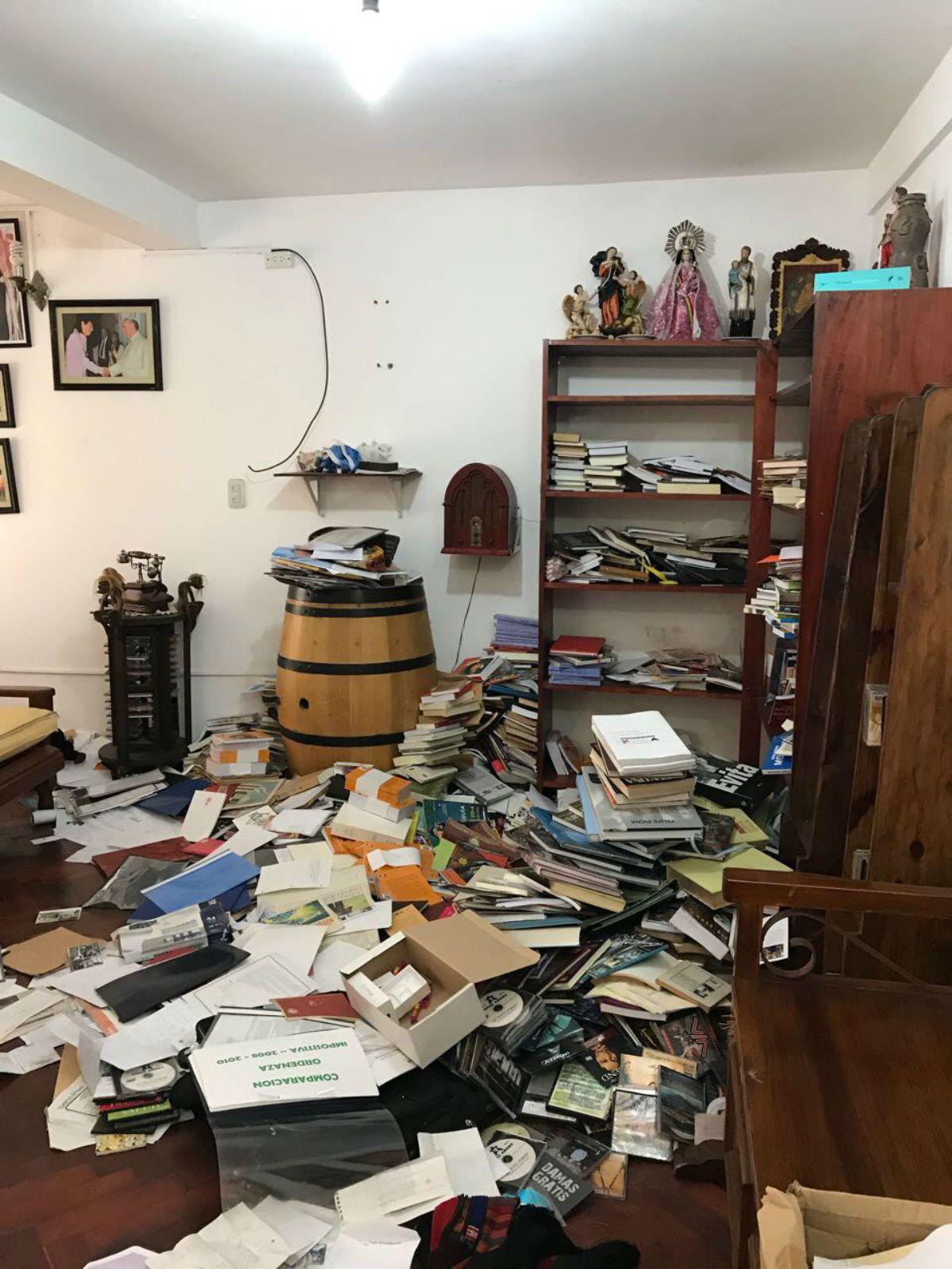 Destrozaron la casa de Sala durante el allanamiento