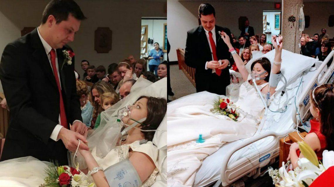 Heather se casó con su novio pocos días antes de morir