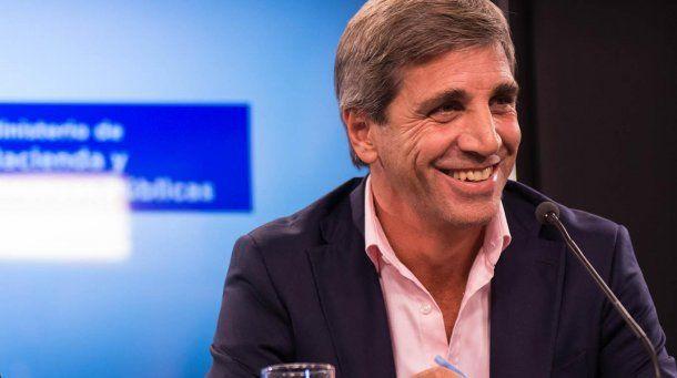Luis Caputo, ministro de Finanzas<br>