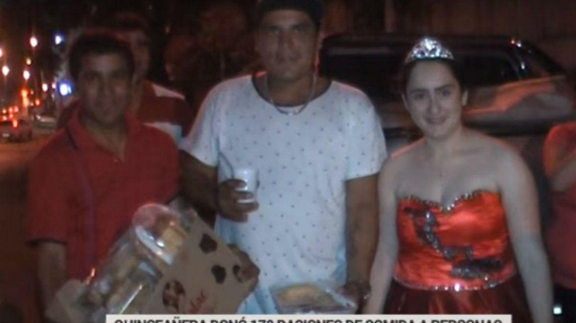La adolescente festejó su cumpleaños con gente en situación de calle