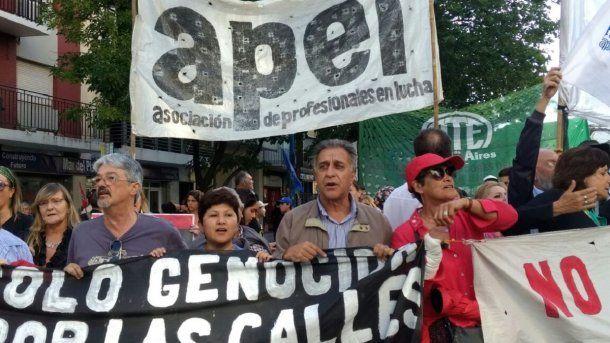 Marcha contra Etchecolatz en Mar del Plata - Crédito:  @prensaobrera