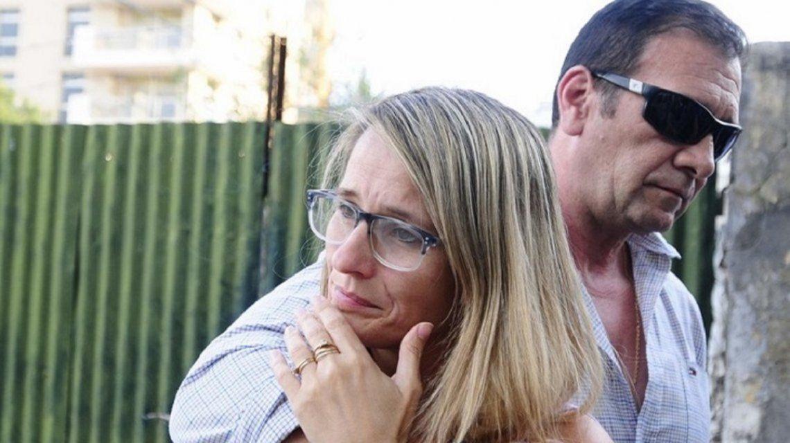 Marcelo Galarza con su mujer