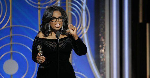 Oprah Winfrey en los Globos de Oro<br>