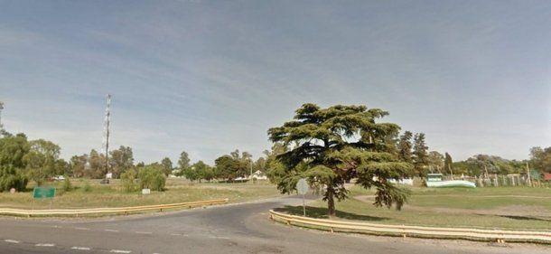 La zona del crimen, a la altura del kilómetro 21 de la autopista Ricchieri.
