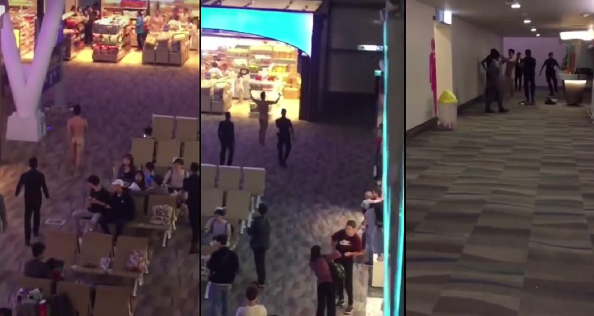 VIDEO: Tomó viagra, se desnudó en un aeropuerto y le arrojó su caca a la gente