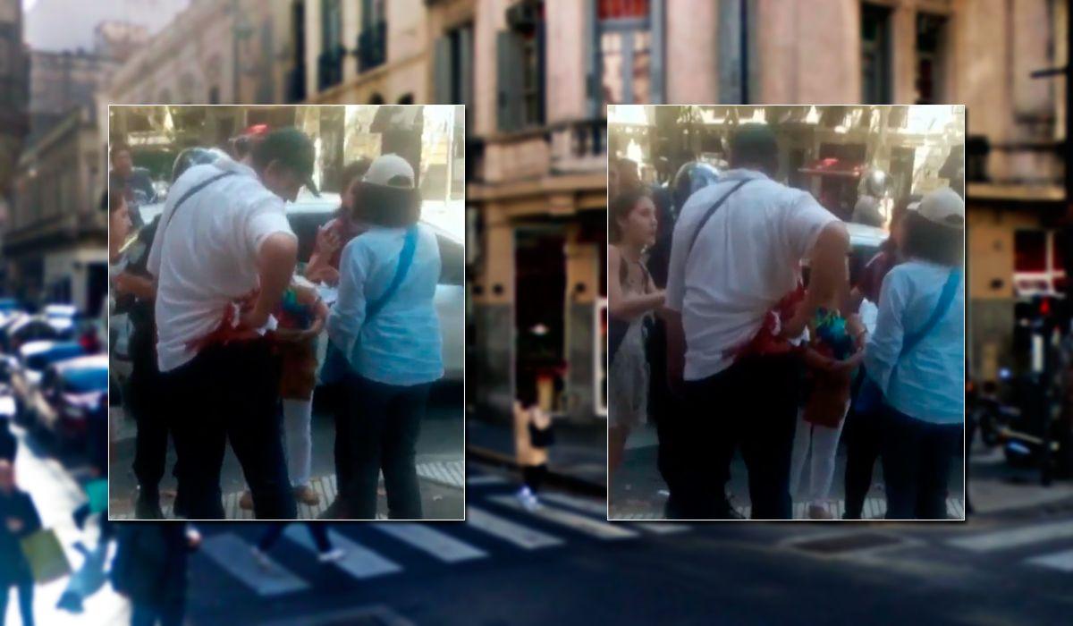 VIDEO: Así quedó el turista ruso tras ser apuñalado en el centro porteño