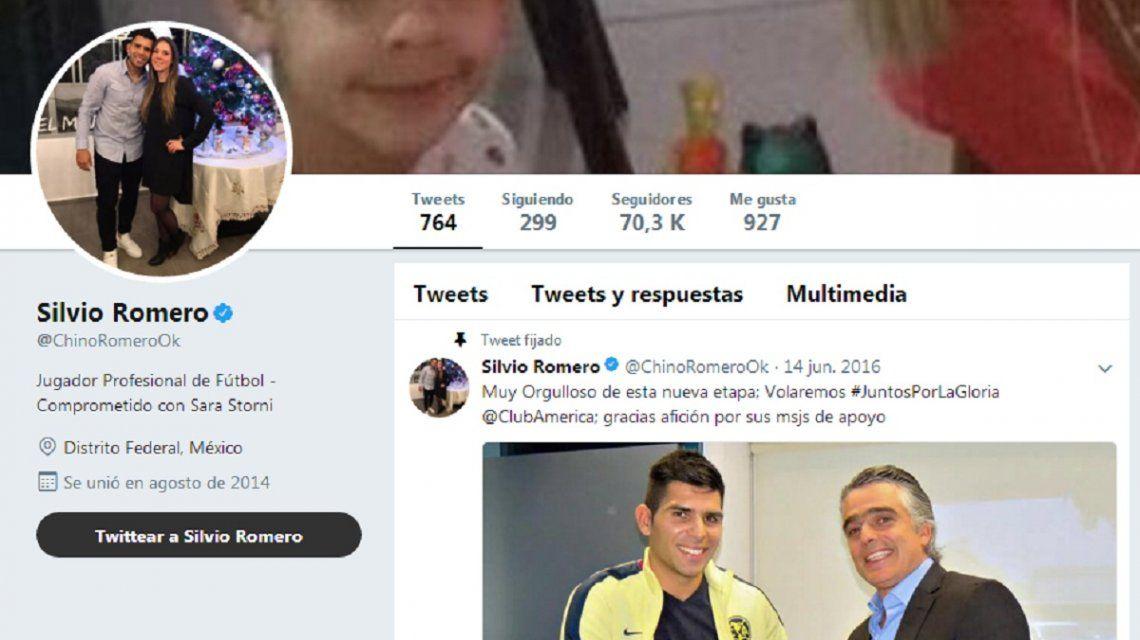 Twitter de Silvio Romero