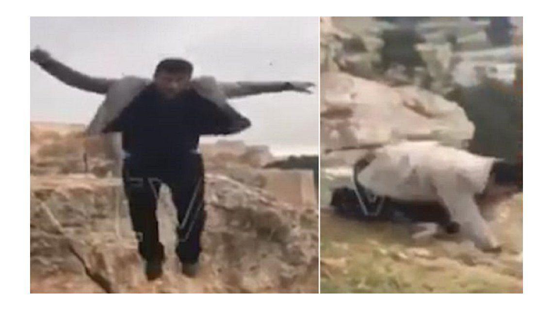 VIDEO: Muere al caer desde un acantilado el día de su cumpleaños al posar para una foto