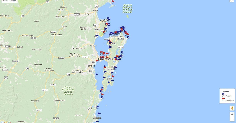 Sobran las banderas rojas en la zona de Florianópolis