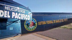Helicópteros del Pacífico ploteados con el logo del Sistema Nacional del Manejo del Fuego