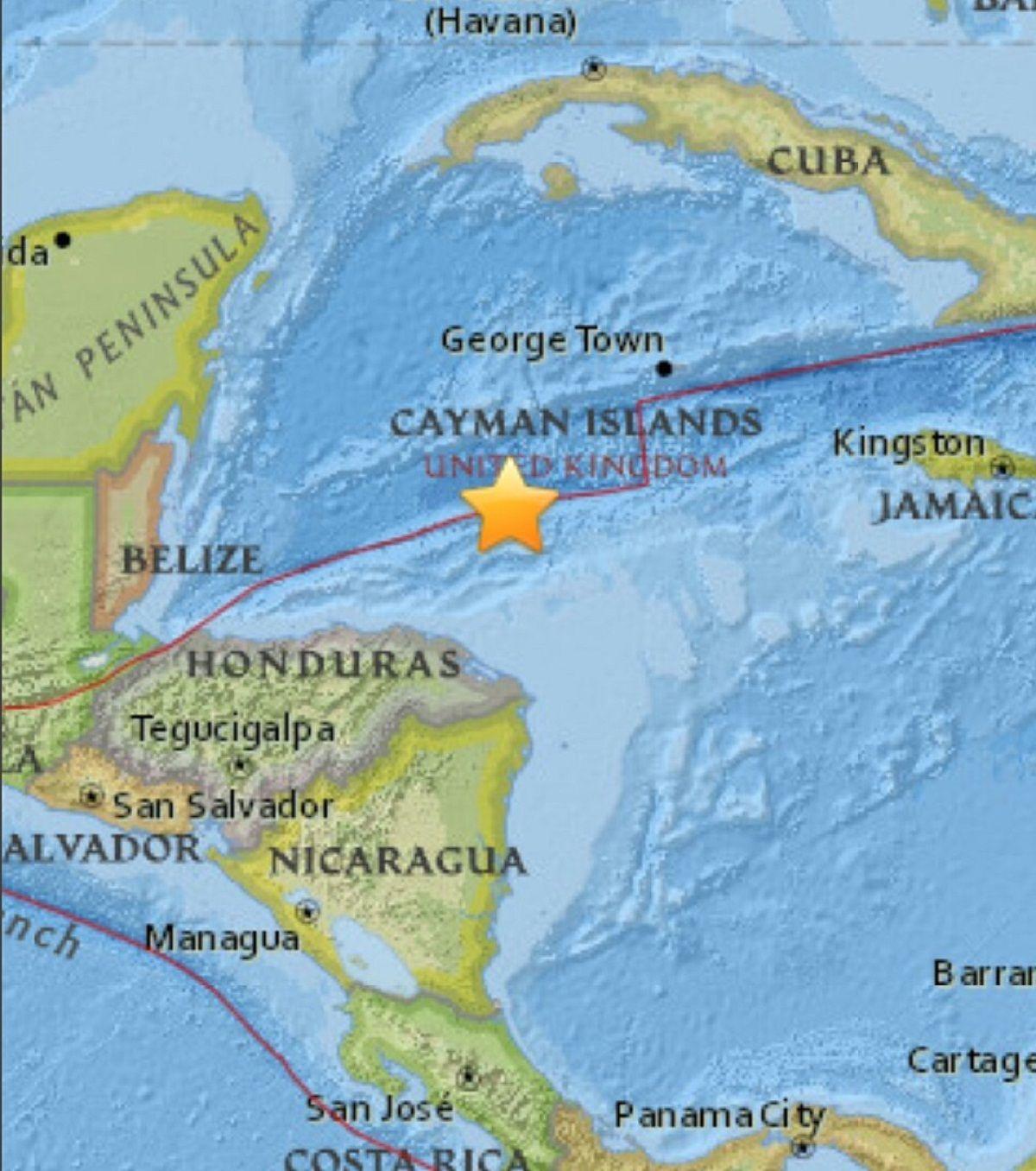 Sismo en el Caribe de Honduras