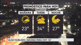 Pronóstico del tiempo del miércoles 10 de enero de 2018