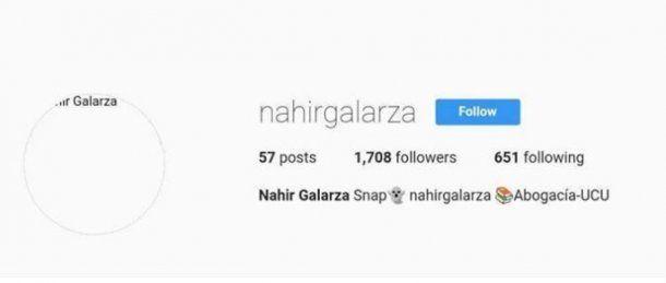 El Instagram de Nahir Galarza fue cerrado cuando fue detenida