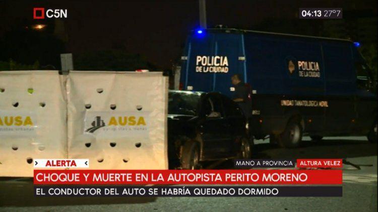 Accidente en Autopista Perito Moreno