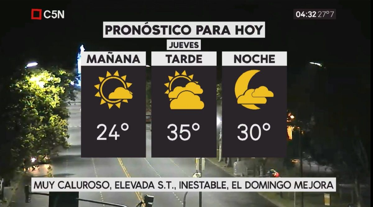 Pronóstico del tiempo del jueves 11 de enero de 2018