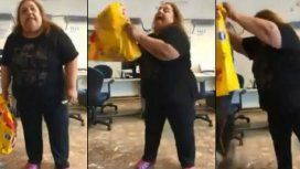 VIDEO: Se cansó de los cortes de luz y fue a Edesur a tirar excremento