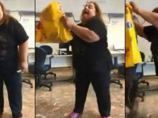 video: se canso de los cortes de luz y fue a edesur a tirar excremento