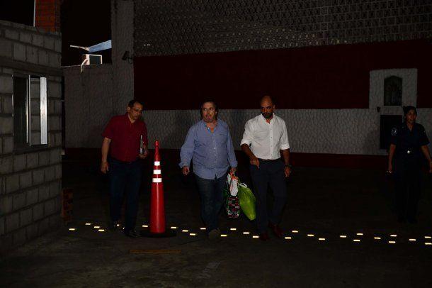 José María Núñez Carmona al salir de la sede de la Superintendencia de la Policía Federal.