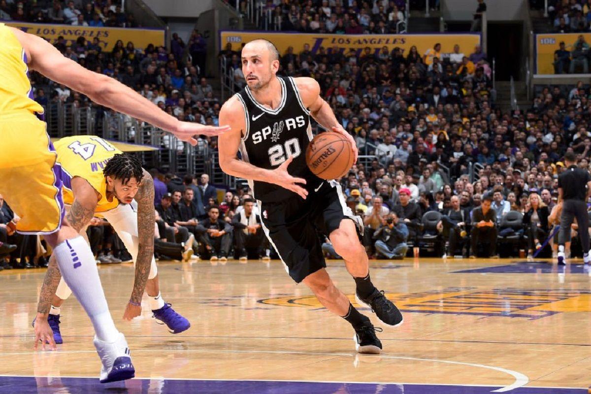 Los Ángeles Lakers apabulló a San Antonio Spurs pese a la buena actuación de Ginóbili