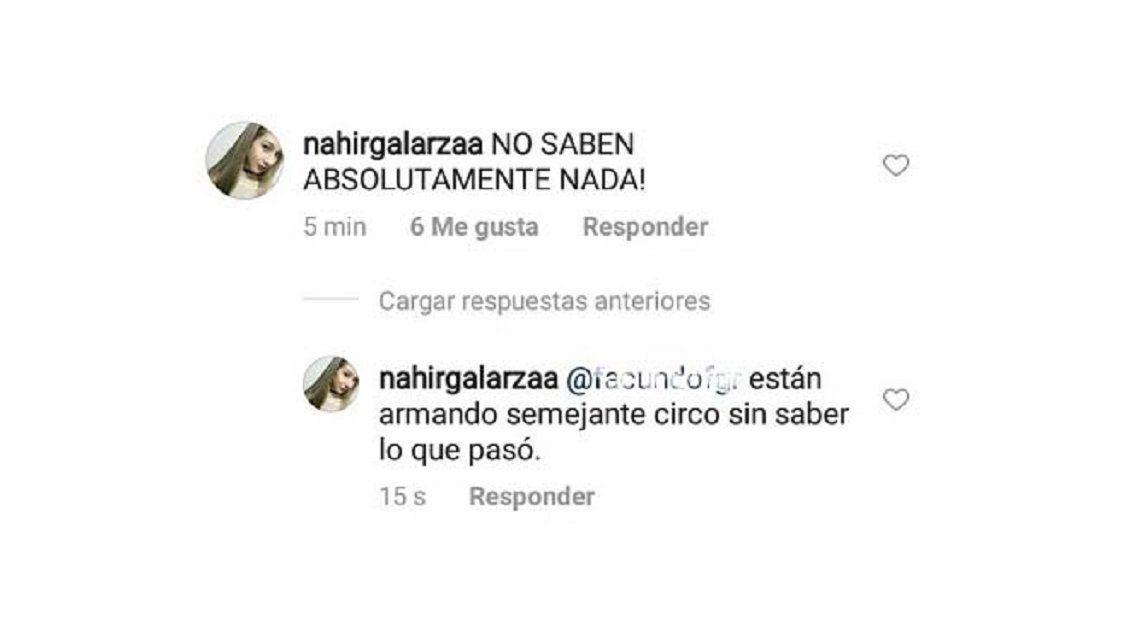Crearon una cuenta trucha de Instagram de Nahir Galarza y postearon que es inocente
