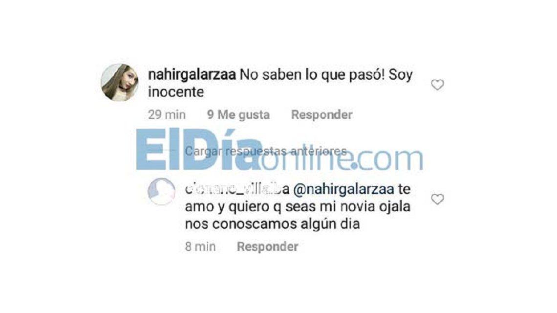 Instagram de Nahir Galarza
