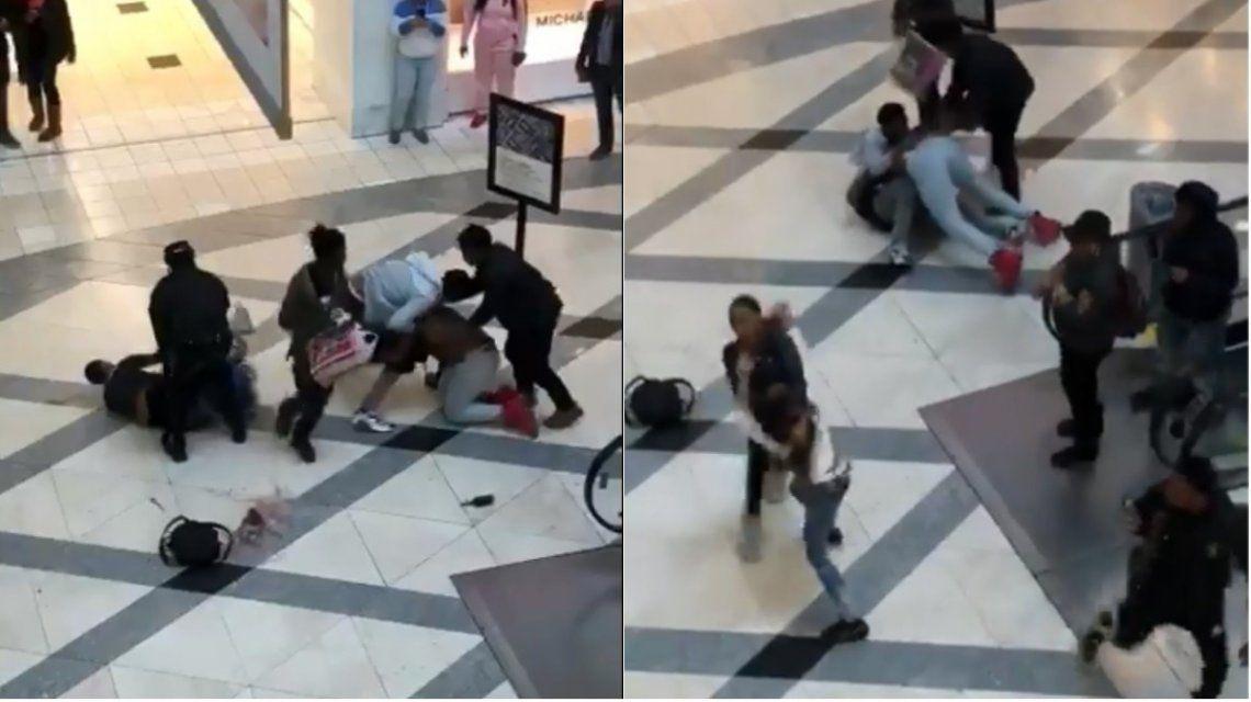VIDEO: brutal pelea de cinco personas en un shopping