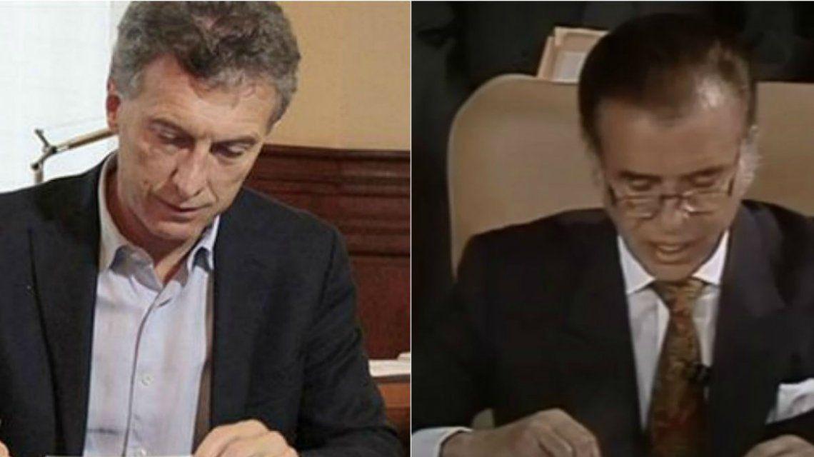 Macri y Menem