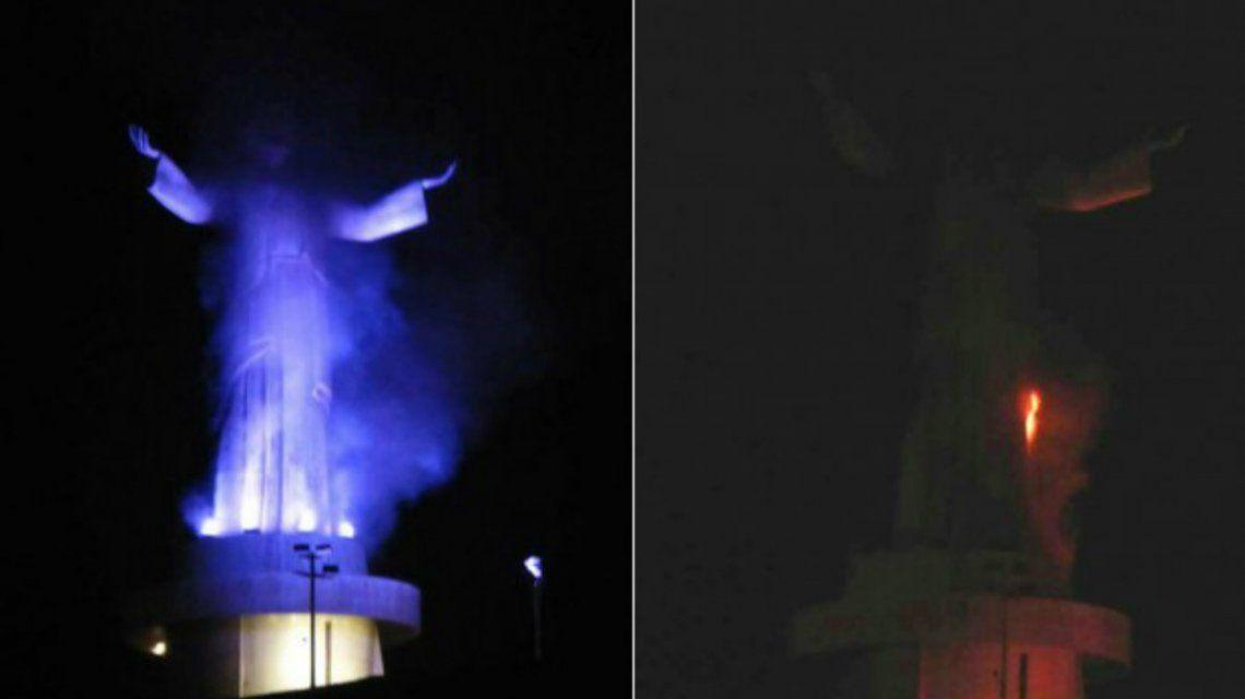 Imágenes del incendio ocurrido el viernes por la noche