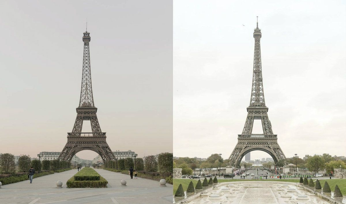 La réplica china de la Torre Eiffel tiene 100 metros de altura