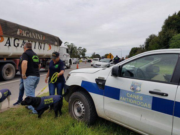 Controles anti droga en Mar del Plata