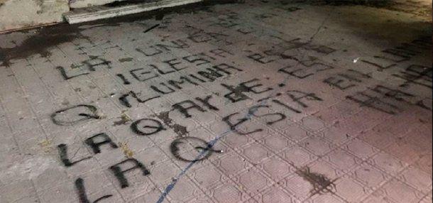 Seis iglesias atacadas antes de la llegada del Papa - Crédito: latercera.com