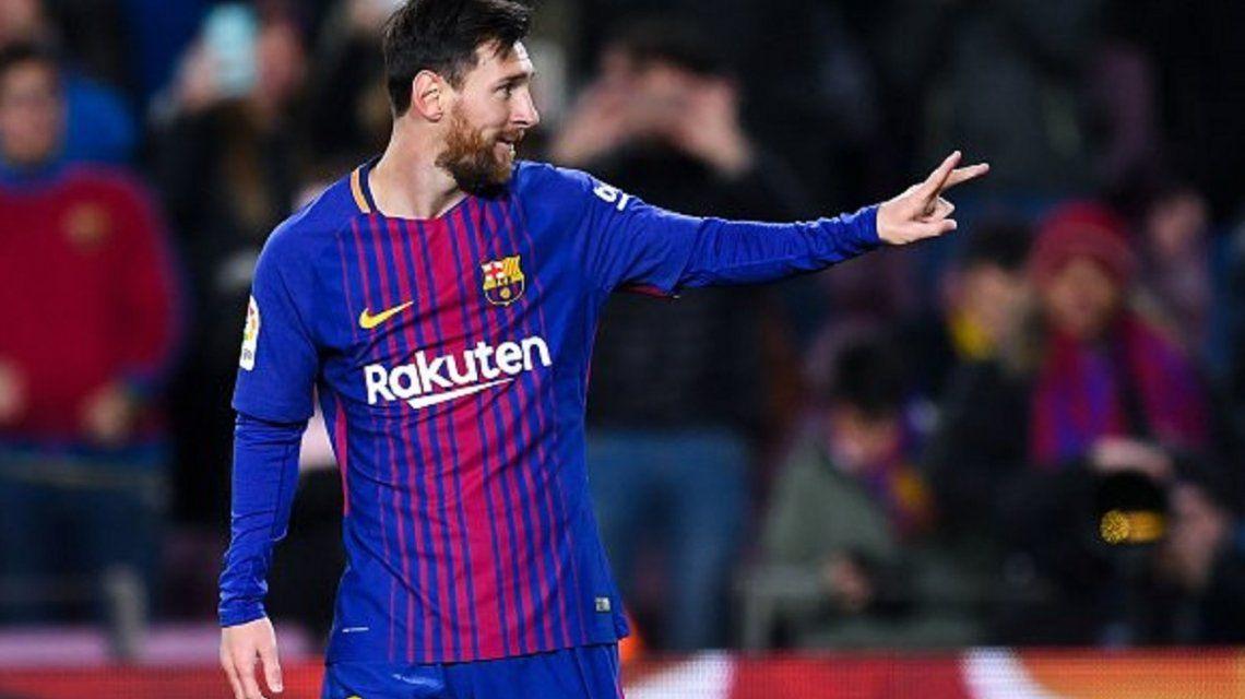 Messi - Crédito:@luis9suarez_fcb