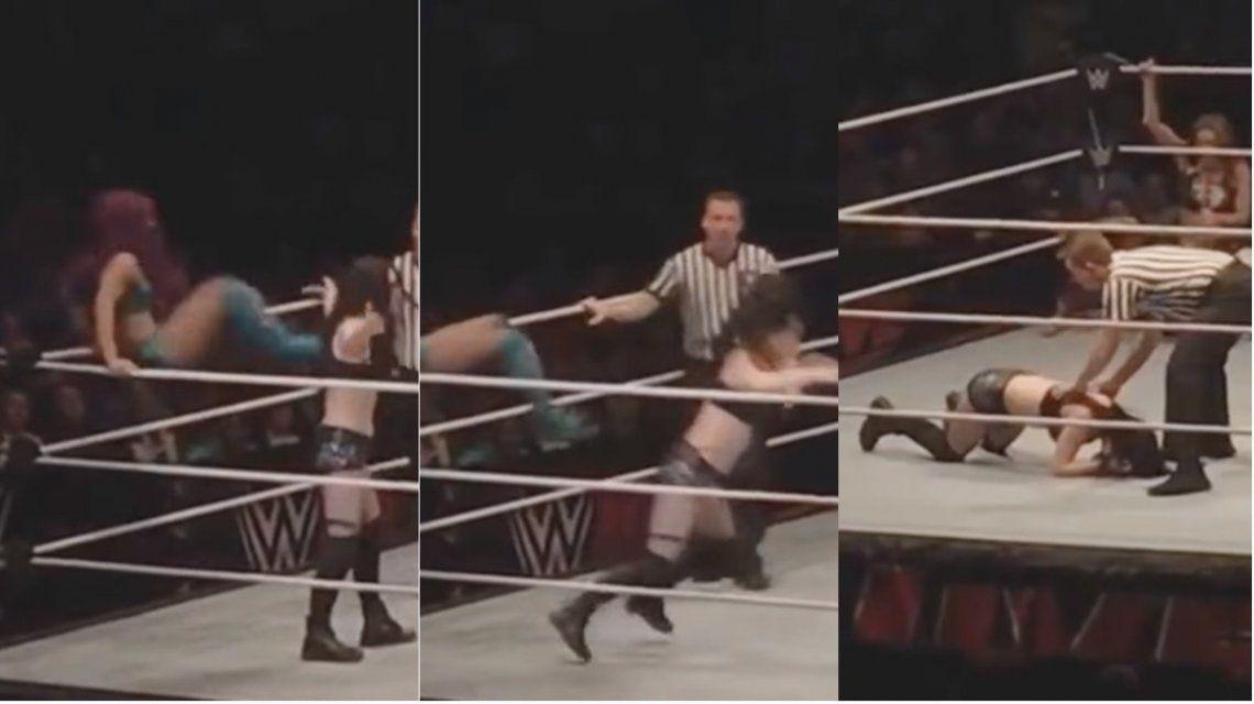 Una luchadora no podrá volver al ring por esta patada