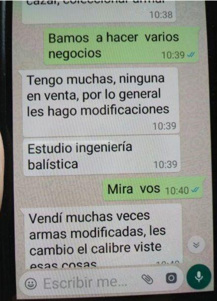 Los mensajes de WhatsApp que complican al acusado del crimen del vendedor online.