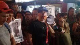 Gustavo Pastorizzo encabezando la marcha