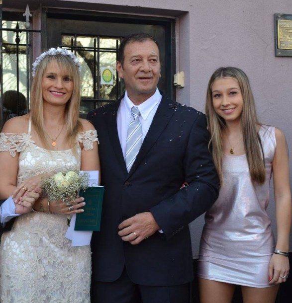 Yamina Kroh, Marcelo Galarza y Nahir Galarza
