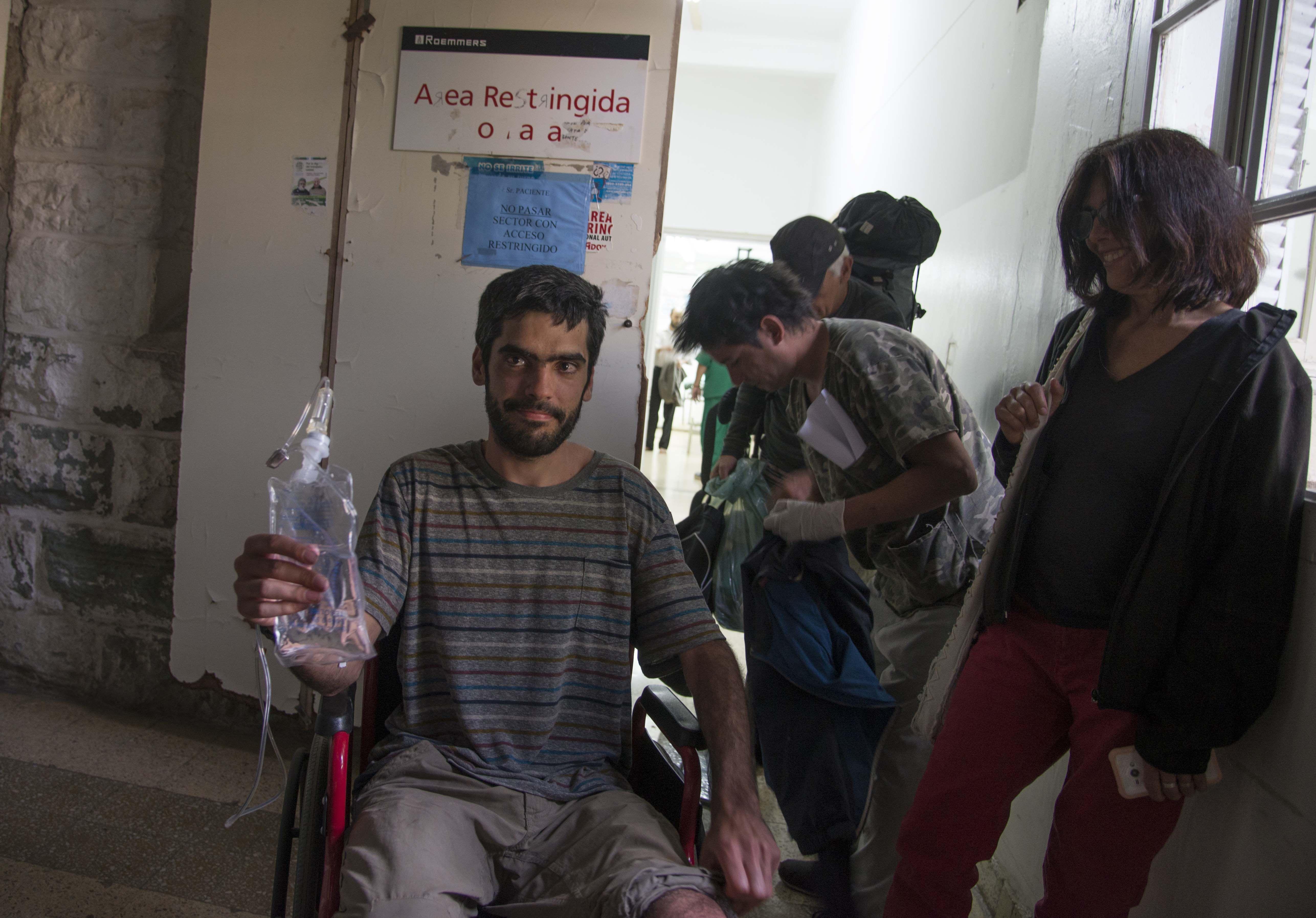 Joaquín Santos tras ser rescatado