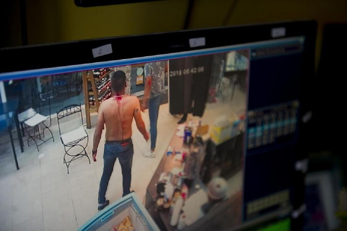 Las imágenes que se difundieron son de una cámara de seguridad